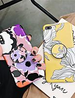 Недорогие -Кейс для Назначение Apple iPhone XR / iPhone XS Max со стендом / Ультратонкий / С узором Кейс на заднюю панель Цветы Мягкий ТПУ для iPhone XS / iPhone XR / iPhone XS Max