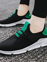 Недорогие -Универсальные Комфортная обувь Эластичная ткань Весна лето Кеды Белый / Черный / Черный / зеленый