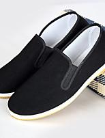 Недорогие -Муж. Комфортная обувь Tissage Volant Весна & осень Шинуазери (китайский стиль) Мокасины и Свитер Черно-белый / Черный / Желтый