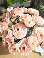 Недорогие -Искусственные Цветы 1 Филиал Односпальный комплект (Ш 150 x Д 200 см) Деревня европейский Камелия Букеты на стол