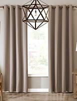 Недорогие -Однотонные Солнцезащитные 1 панель Занавес Гостиная   Curtains