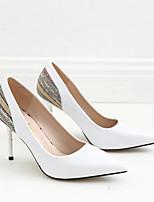 Недорогие -Жен. Полиуретан Весна Обувь на каблуках На шпильке Белый / Черный / Розовый