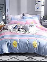 Недорогие -Пододеяльник наборы Цветочный принт / Роскошь / Современный стиль Полиэстер С принтом 4 предметаBedding Sets