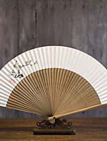 Недорогие -Взрослые Муж. Жен. азиатский кисточка В китайском стиле Косплэй Kостюмы Назначение Для вечеринок На каждый день Подарок Чистая бумага Бамбук Складной ручной вентилятор