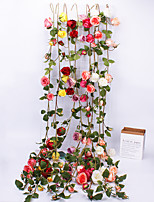 Недорогие -Искусственные Цветы 1 Филиал С креплением на стену европейский Розы Вечные цветы Цветы на стену