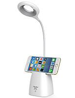 Недорогие -1 шт. USB привело чтение книги настольный светильник кисть горшок телефон кронштейн сгибаемый USB зарядки сенсорный контроль настольная лампа защиты белого глаза