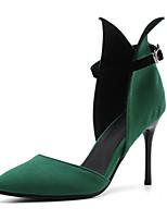 Недорогие -Жен. Полиуретан Весна лето Обувь на каблуках На шпильке Заостренный носок Черный / Красный / Зеленый / Для вечеринки / ужина