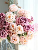Недорогие -Искусственные Цветы 1 Филиал Односпальный комплект (Ш 150 x Д 200 см) Современный современный Свадебные цветы Розы Букеты на стол