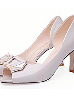 Недорогие -Жен. Полиуретан Лето Обувь на каблуках На каблуке-рюмочке Черный / Серый