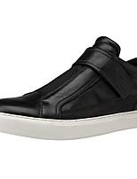 Недорогие -Муж. Комфортная обувь Наппа Leather Весна лето Классика / На каждый день Кеды Черный / Серый