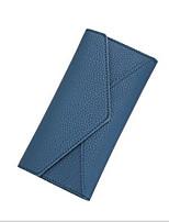 Недорогие -Жен. Мешки PU Бумажники Сплошной цвет Черный / Розовый / Серый