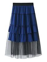 Недорогие -женские юбки миди свинг - однотонные