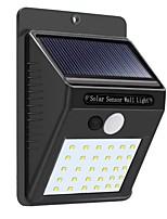 Недорогие -1шт 5 W Солнечный свет стены Водонепроницаемый / Монитор обнаружения движения Белый 3.7 V Уличное освещение / двор 30 Светодиодные бусины