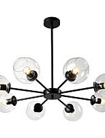Недорогие -JSGYlights 8-Light Люстры и лампы Рассеянное освещение Окрашенные отделки Металл Стекло 110-120Вольт / 220-240Вольт