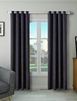 Недорогие -Однотонные Солнцезащитные 1 панель Гостиная   Curtains