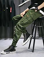 Недорогие -Муж. Гарем Брюки-штаны Черный Военно-зеленный Зеленый Виды спорта Сплошной цвет Хлопок Штаны Тренировка в тренажерном зале Большие размеры Спортивная одежда Легкость Быстровысыхающий Слабоэластичная