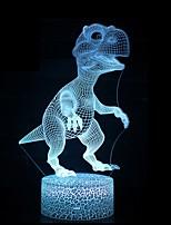 Недорогие -3d иллюзия светодиодная лампа динозавр 7 цвет светодиодные лампы украшения животных ночной свет сенсорный спальный ночной свет настольная лампа