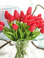 Недорогие -Искусственные Цветы 10 Филиал Классический европейский Простой стиль Тюльпаны Вечные цветы Букеты на стол