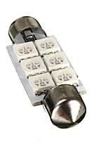 Недорогие -1pcs Фестон Автомобиль Лампы 0.8 W SMD 5050 12~13 lm 6 Светодиодная лампа Внутреннее освещение Назначение Все года