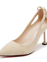 Недорогие -Жен. Искусственная кожа Весна & осень Обувь на каблуках Для прогулок На каблуке-рюмочке Заостренный носок Зеленый / Розовый / Миндальный
