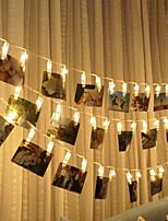 Недорогие -1,5 м светодиодные фонари строка творческой фотографии настенная фотография клип огни строки огни декоративные огни рождество
