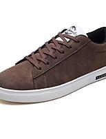 Недорогие -Муж. Комфортная обувь Полиуретан Весна На каждый день Кеды Нескользкий Черный / Серый / Хаки