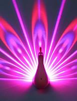 Недорогие -1шт LED Night Light Фиолетовый USB Перезаряжаемый <=36 V