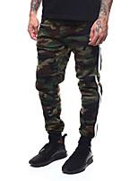 Недорогие -Муж. Кулиска Брюки-штаны Военно-зеленный Виды спорта Мода Хлопок Брюки Тренировка в тренажерном зале Большие размеры Спортивная одежда Сохраняет тепло Легкость С защитой от ветра Слабоэластичная