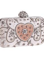 Недорогие -Жен. Мешки Полиэстер / Сплав Вечерняя сумочка Бусины Геометрический рисунок Розовый