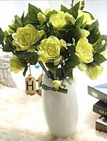Недорогие -Искусственные Цветы 3 Филиал Классический европейский Пастораль Стиль Гардения Букеты на стол