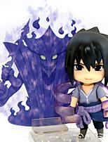Недорогие -Аниме Фигурки Вдохновлен Наруто Sasuke Uchiha ПВХ 10 cm См Модель игрушки игрушки куклы