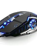 Недорогие -OEM V5 Проводной USB Оптический Gaming Mouse / Бесшумная мышь Светодиодный свет 3200 dpi 6 Регулируемые уровни DPI 6 pcs Ключи 6 программируемых клавиш
