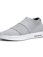 Недорогие -Муж. Комфортная обувь Эластичная ткань / Tissage Volant Весна На каждый день Мокасины и Свитер Нескользкий Черный / Серый / Черно-белый