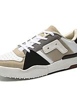 Недорогие -Муж. Комфортная обувь Полиуретан Весна На каждый день Кеды Нескользкий Контрастных цветов Белый / Черный