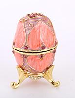 Недорогие -пасхальное яйцо Жен. Античный Украшенный драгоценностями Русский Шкатулка Коробка Брелок Назначение Подарок Свидание На каждый день Пасха пасхальное яйцо Бижутерия