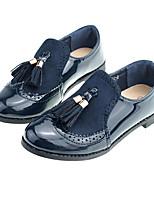 Недорогие -Девочки Обувь Полиуретан Весна / Осень Удобная обувь На плокой подошве С кисточками для Дети / Для подростков Темно-синий / Вино
