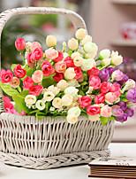 Недорогие -Искусственные Цветы 5 Филиал Классический Простой стиль Розы Вечные цветы Букеты на стол