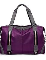 Недорогие -PU / синтетика Сплошной цвет Дорожная сумка Молнии Сплошной цвет Серый / Лиловый / Морской синий