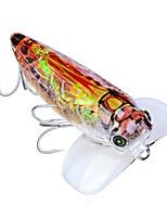 Недорогие -6 pcs Рыболовная приманка Жесткая наживка Воблер-поппер пластик Общий Тонущие Морское рыболовство Ужение на спиннинг Троллинг и рыболовное судно