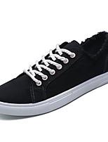 Недорогие -Муж. Комфортная обувь Полотно Весна На каждый день Кеды Дышащий Черный / Оранжевый / Зеленый