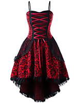 Недорогие -Жен. Классический С летящей юбкой Платье - Однотонный Средней длины