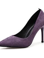 Недорогие -Жен. Искусственная кожа Весна & осень Обувь на каблуках Для прогулок На шпильке Заостренный носок Черный / Лиловый