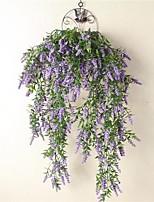 Недорогие -Искусственные Цветы 1 Филиал С креплением на стену подвешенный Деревня Для вечеринки Светло-голубой Корзина Цветы