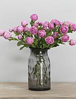Недорогие -Искусственные Цветы 2 Филиал Классический Современный современный европейский лотос Вечные цветы Букеты на стол