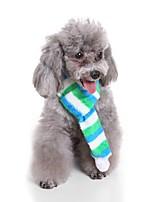 Недорогие -Собаки Шарф для собаки Одежда для собак Полоски Персонажи Красный Зеленый 100%коралловый флис Костюм Назначение Бульдог Мопс Бишон Фриз Осень Зима Мужской Сохраняет тепло Бижутерия