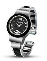 Недорогие -Жен. Нарядные часы Часы-браслет Наручные часы Кварцевый Нержавеющая сталь Черный / Серебристый металл / Красный Повседневные часы Cool Милый Аналоговый Кольцеобразный Мода - Белый Черный Красный