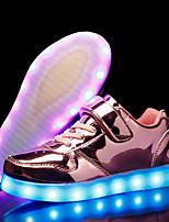 Недорогие -Мальчики / Девочки Обувь Лакированная кожа Весна Обувь с подсветкой Кеды LED для Золотой / Серебряный / Розовый