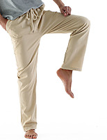 Недорогие -Муж. Кулиска Сплетенные брюки Синий Серый Хаки Виды спорта Сплошной цвет Брюки Нижняя часть Спорт в свободное время Бег Фитнес Большие размеры Спортивная одежда Легкость Быстровысыхающий Неэластичная