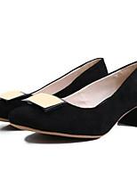 Недорогие -Жен. Кожа Весна & осень Обувь на каблуках На плоской подошве Черный / Коричневый