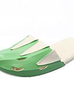 Недорогие -Жен. Полиуретан Весна На каждый день Тапочки и Шлепанцы На плоской подошве Круглый носок Желтый / Зеленый / Контрастных цветов